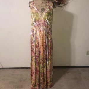 Christopher & Banks Long Sleeveless Maxi Dress